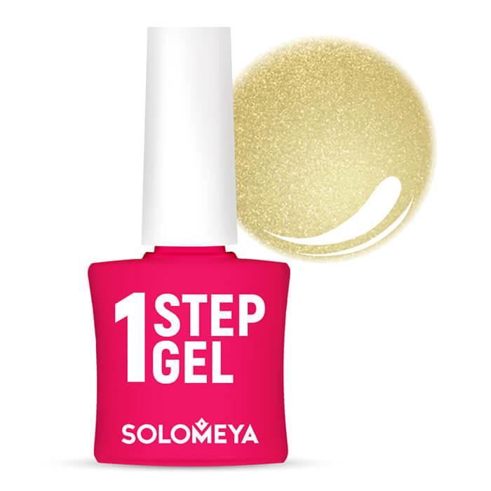 Купить Гель-лак для ногтей Solomeya One Step Gel #37 Gold | Золото, Однофазный гель-лак со стойким глянцевым покрытием, Великобритания