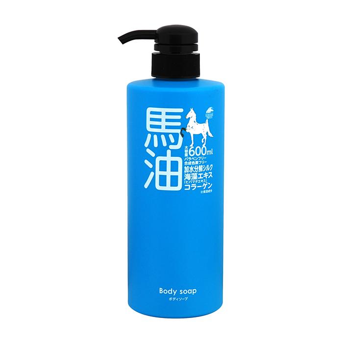 Купить Гель для душа Unimatriken Body Soap, Гель для душа на основе лошадиного масла с гидролизованным шёлком и экстрактом водорослей, Япония