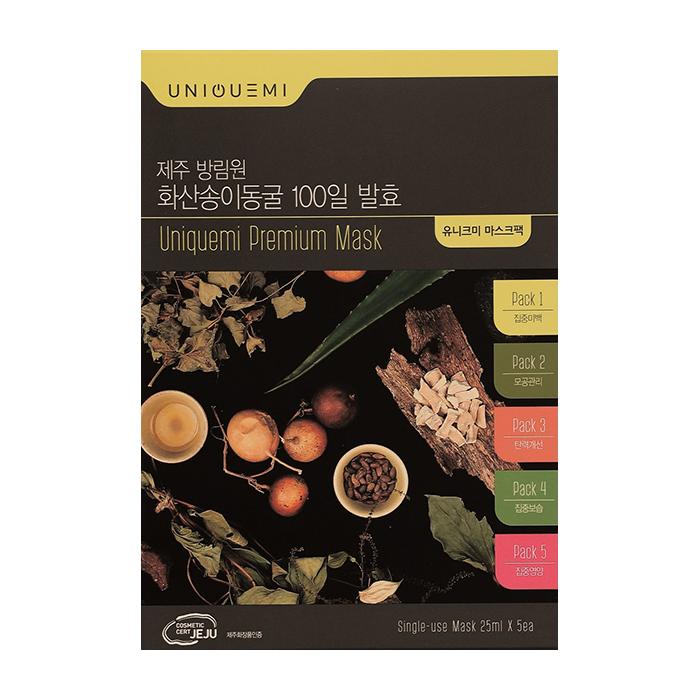 Купить Набор тканевых масок Uniquemi Premium Mask Kit (5 шт.), Набор тканевых масок для комплексного ухода за кожей лица, Южная Корея