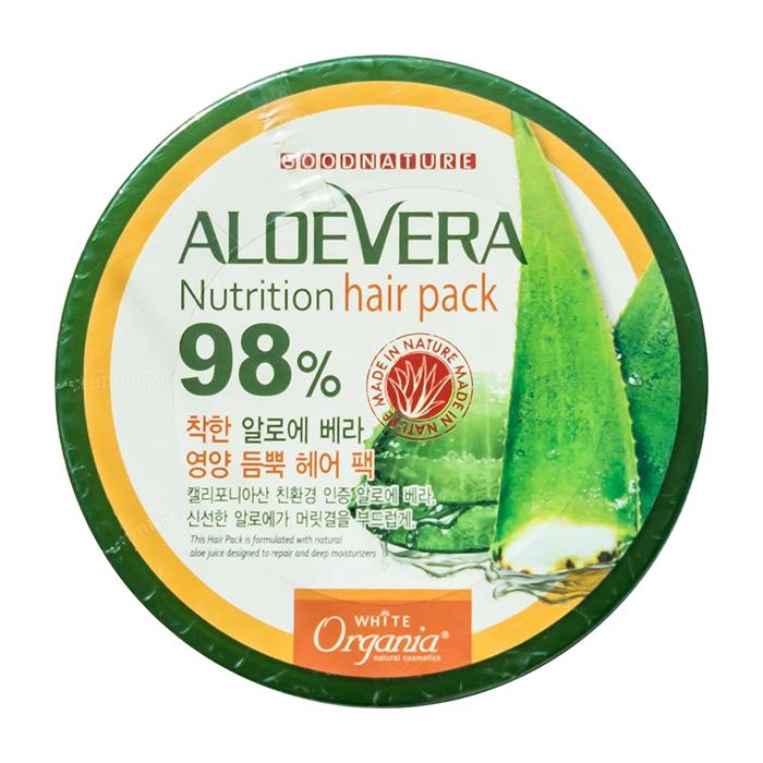 Купить Маска для волос White Organia Aloe Vera Nutrition Hair Pack, Питательная маска для волос с 98% органическим алоэ вера, Южная Корея