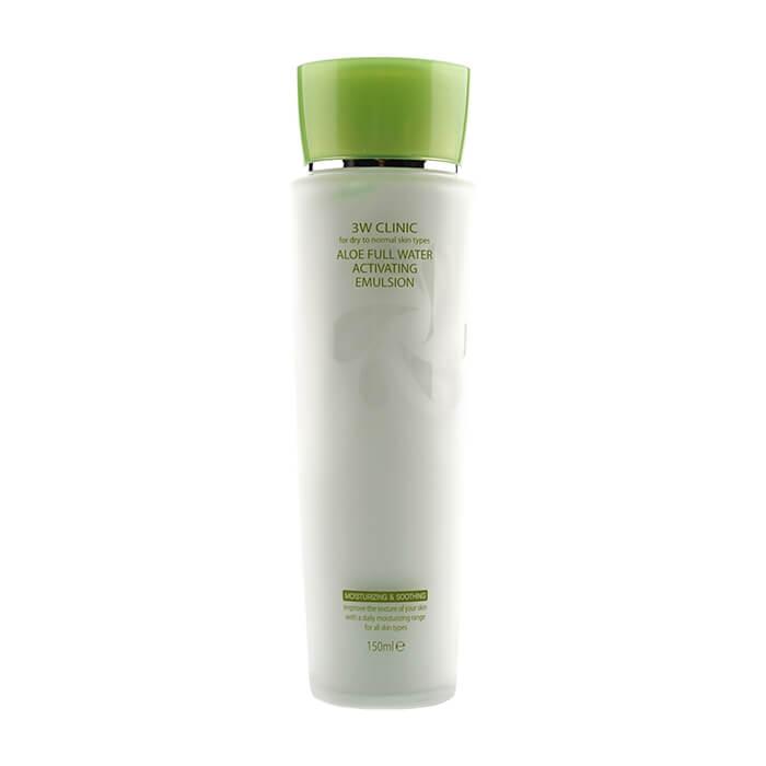 Эмульсия для лица 3W Clinic Aloe Full Water Activating Emulsion Увлажняющая и успокаивающая эмульсия для лица с экстрактом алоэ вера фото