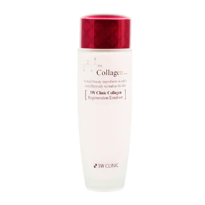 Купить Эмульсия для лица 3W Clinic Collagen Regeneration Emulsion, Восстанавливающая эмульсия с коллагеном для ухода за лицом, Южная Корея