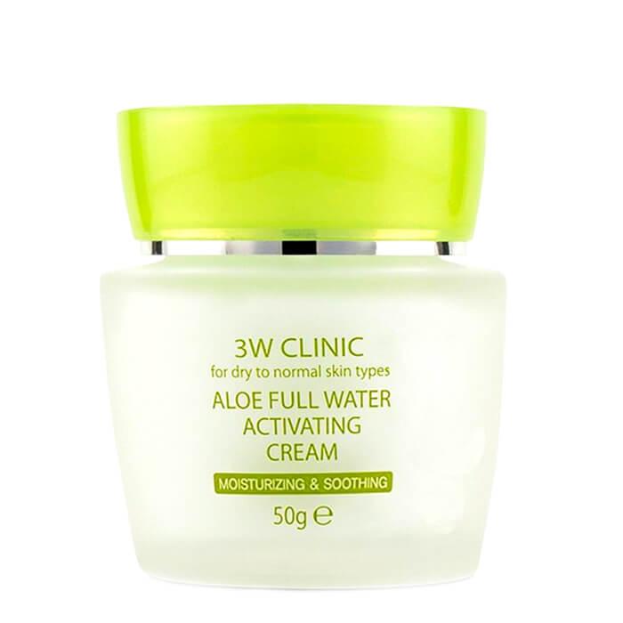 Купить Крем для лица 3W Clinic Aloe Full Water Activating Cream, Увлажняющий крем для лица с экстрактом алоэ, Южная Корея