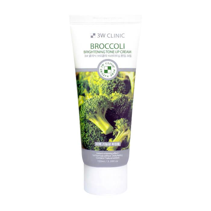 Крем для лица 3W Clinic Broccoli Brightening Tone Up Cream Осветляющий крем для улучшения тона кожи лица с экстрактом брокколи фото