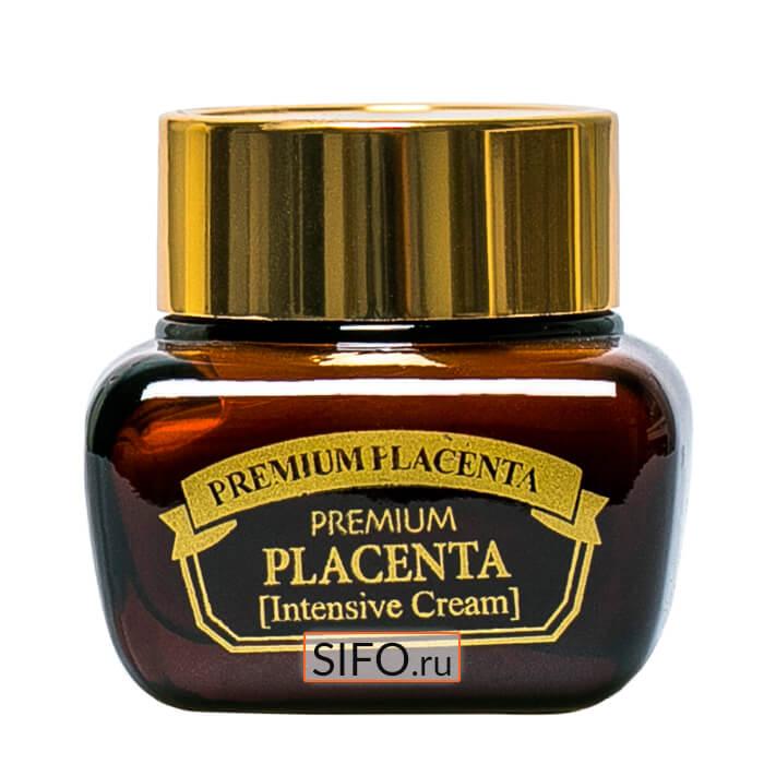 Купить Крем для лица 3W Clinic Premium Placenta Intensive Cream, Антивозрастной крем с плацентой для ухода за зрелой кожей лица, Южная Корея