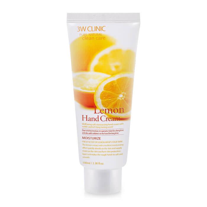 Купить Крем для рук 3W Clinic Lemon Hand Cream, Увлажняющий крем для рук с осветляющим экстрактом лимона, Южная Корея