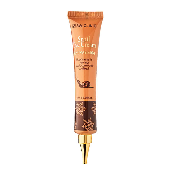 Купить Крем для век 3W Clinic Anti-Wrinkle Snail Eye Cream, Антивозрастной крем для кожи вокруг глаз с экстрактом слизи улитки, Южная Корея