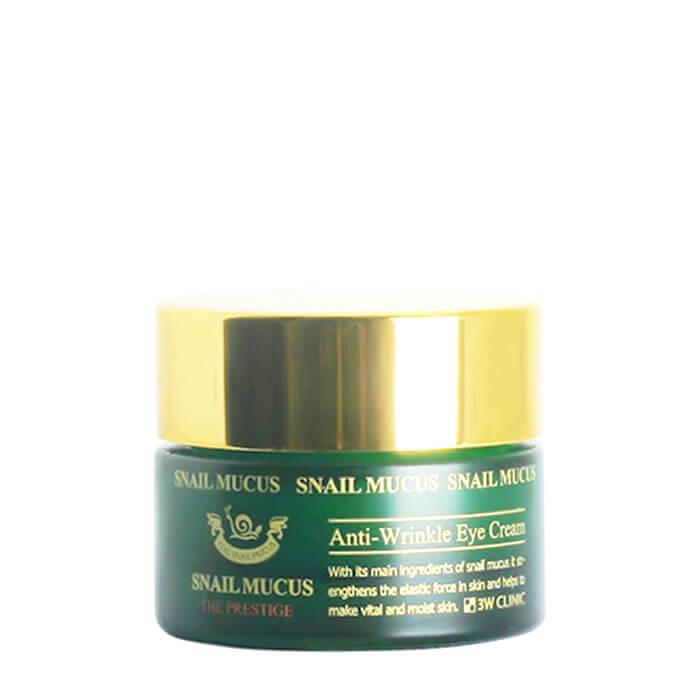 Купить Крем для век 3W Clinic Snail Mucus Anti-Wrinkle Eye Cream, Восстанавливающий антивозрастной крем для кожи вокруг глаз с улиточным муцином, Южная Корея