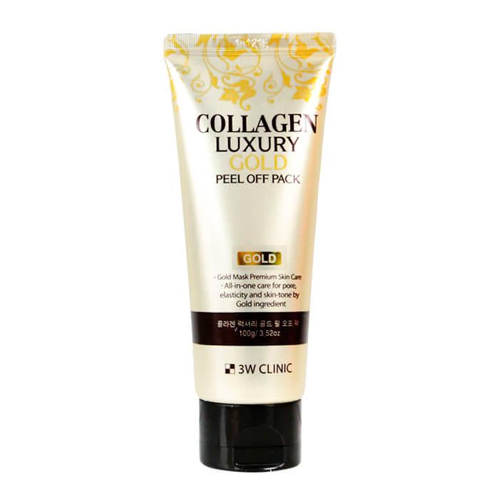 Купить Маска-плёнка 3W Clinic Collagen & Luxury Gold Peel Off Pack, Золотая маска-плёнка для очищения лица с коллагеном, Южная Корея