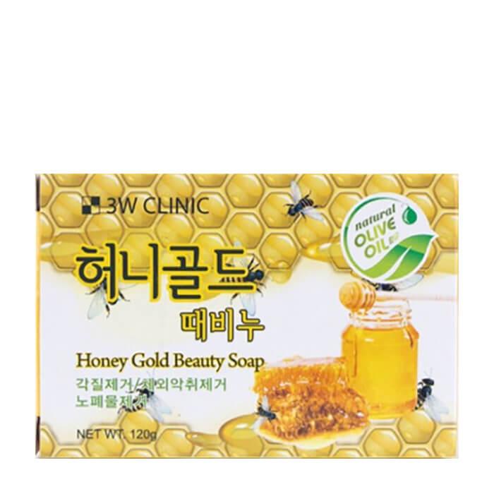 Купить Мыло для лица и тела 3W Clinic Honey Gold Beauty Soap, Кусковое мыло для лица и тела с экстрактом меда, Южная Корея