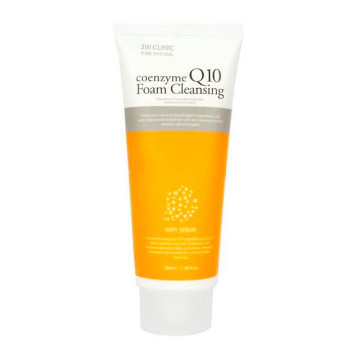 Купить Пенка для умывания 3W Clinic Coenzyme Q10 Foam Cleansing, Очищающая пенка для лица с коэнзимом Q10, Южная Корея