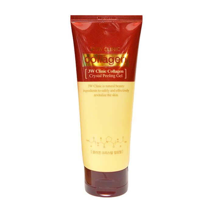 Купить Пилинг для лица 3W Clinic Collagen Crystal Peeling Gel, Мягкий пилинг-скатка для улучшения тона и текстуры кожи лица с коллагеном, Южная Корея