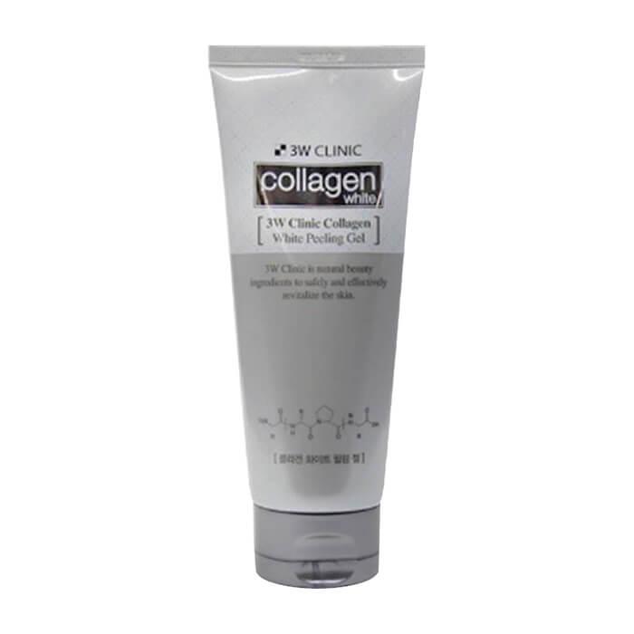 Купить Пилинг для лица 3W Clinic Collagen Whitening Peeling Gel, Осветляющий пилинг-скатка для улучшения тона и текстуры кожи лица с коллагеном, Южная Корея