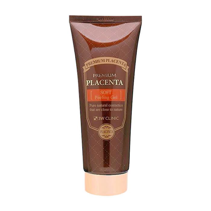 Купить Пилинг для лица 3W Clinic Premium Placenta Soft Peeling Gel, Пилинг-гель премиум-класса для ухода за зрелой кожей лица с протеинами плаценты, Южная Корея