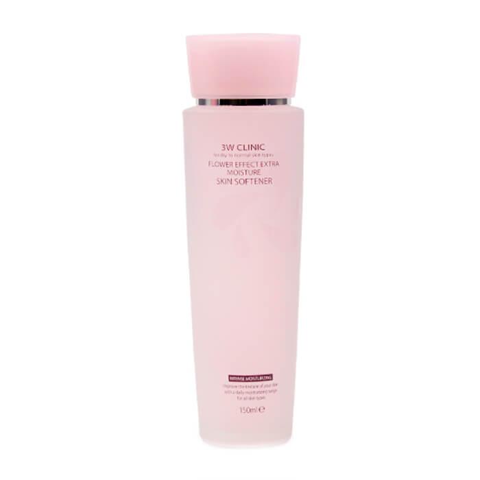 Купить Софтнер для лица 3W Clinic Flower Effect Extra Moisture Skin Softener, Смягчающий лёгкий тонер для лица с цветочными экстрактами, Южная Корея