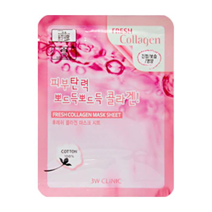 Купить Тканевая маска 3W Clinic Fresh Collagen Mask Sheet, Тканевая маска для лица с экстрактом коллагена, Южная Корея