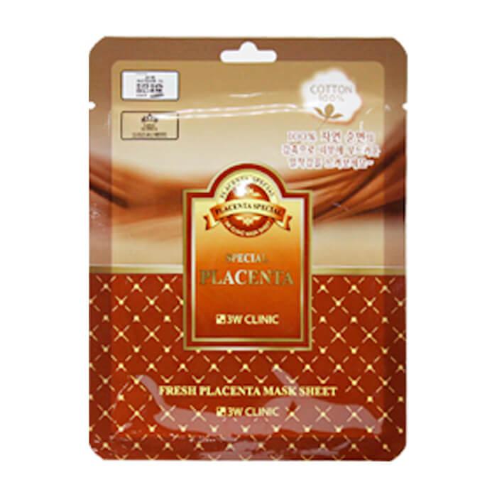 Купить Тканевая маска 3W Clinic Fresh Placenta Mask Sheet, Тканевая маска для лица с экстрактом плаценты, Южная Корея