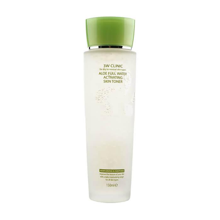Купить Тонер для лица 3W Clinic Aloe Full Water Activating Skin Toner, Увлажняющий и успокаивающий тонер для лица с экстрактом алоэ вера, Южная Корея