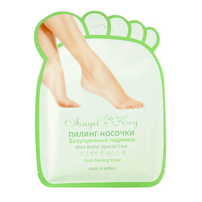 Купить Пилинг носочки Angel Key Fruit & Vinegar Foot Peeling Mask, Пилинговые носочки для удаления огрубевшей кожи стоп, Южная Корея