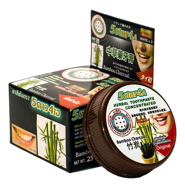 Зубная паста 5Star4A Bamboo Charcoal Herbal Toothpaste Concetrated