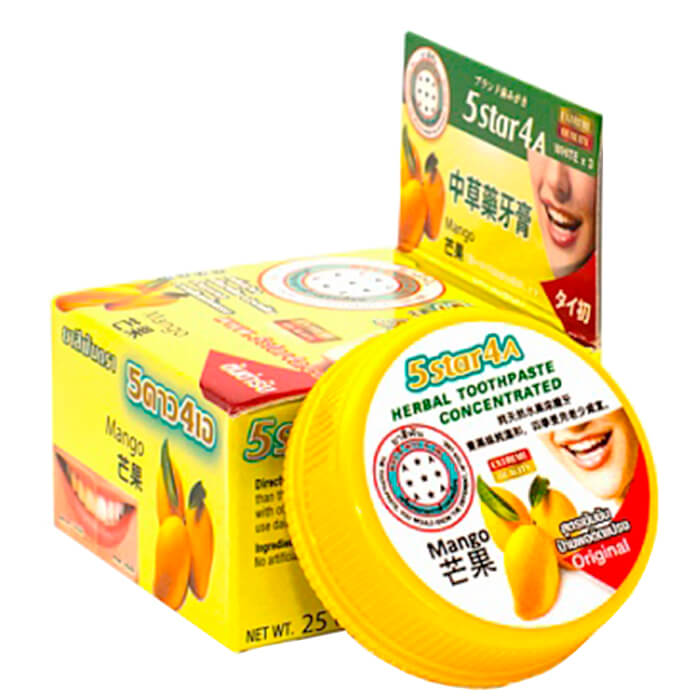 Зубная паста 5Star4A Bamboo Mango Herbal Toothpaste Concetrated
