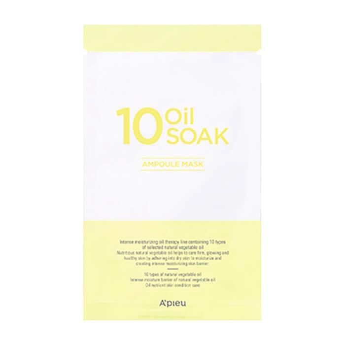 Купить Ампульная маска A'Pieu 10 Oil Soak Ampoule Mask, Интенсивная маска для восстановления кожи лица с масляным комплексом, Южная Корея