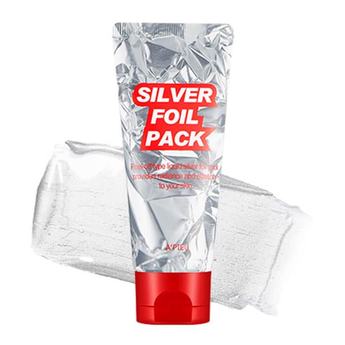 Купить Маска-фольга A'Pieu Silver Foil Pack, Серебряная плёночная маска-фольга для очищения кожи лица, Южная Корея