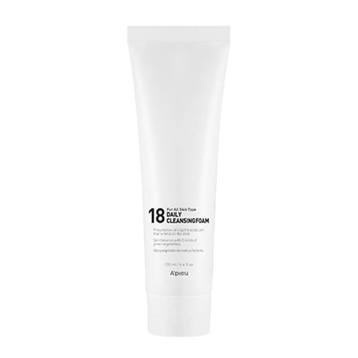 Купить Очищающая пенка A'Pieu 18 Daily Cleansing Foam, Ежедневная пенка для умывания молодой кожи лица, Южная Корея