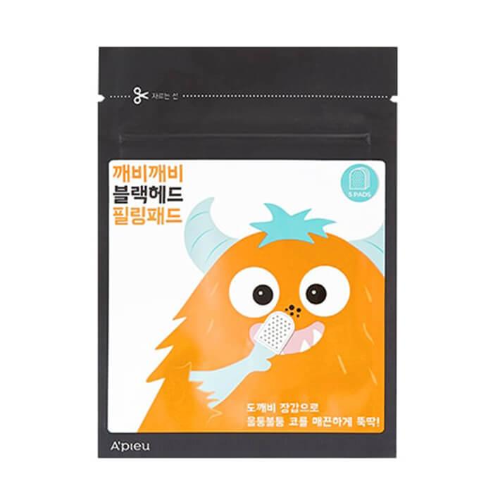 Купить Пилинг-диски для лица A'pieu Goblin Blackhead Peeling Pad, Мягкие отшелущивающие диски для лица с пилинг-эффектом, Южная Корея
