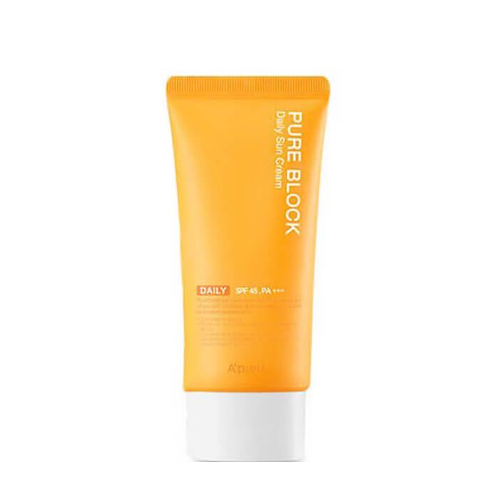 Купить Солнцезащитный крем для лица A'pieu Pure Block Daily Sun Cream, Защитный крем для лица с экстрактом арбуза и алоэ вера, Южная Корея