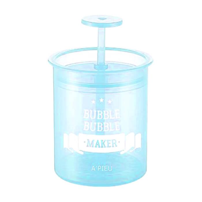 Купить Взбиватель пены A'pieu Bubble Bubble Maker Mint, Стакан-помпа для создания пышной пены из любого средства для умывания, Южная Корея