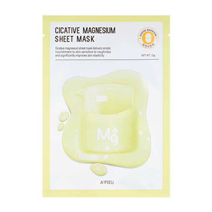 Купить Тканевая маска A'Pieu Cicative Magnesium Sheet Mask, Питательная тканевая маска для лица с магнием, Южная Корея