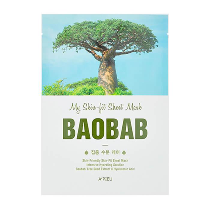 Купить Тканевая маска A'Pieu My Skin-Fit Sheet Mask Baobab, Тканевая маска для лица с экстрактом баобаба, Южная Корея