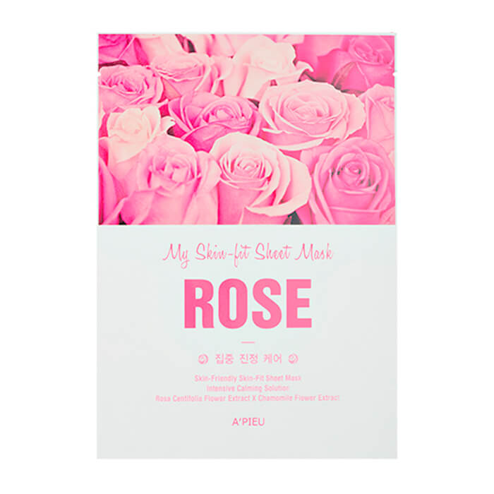 Купить Тканевая маска A'Pieu My Skin-Fit Sheet Mask Rose, Тканевая маска для лица с экстрактом западной розы, Южная Корея