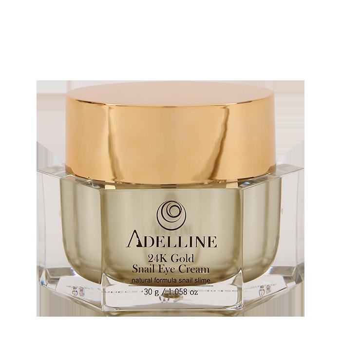 Купить Крем для век Adelline 24K Gold Snail Eye Cream (30 г), Питательный крем для кожи вокруг глаз с коллоидным золотом и слизью улитки, Южная Корея