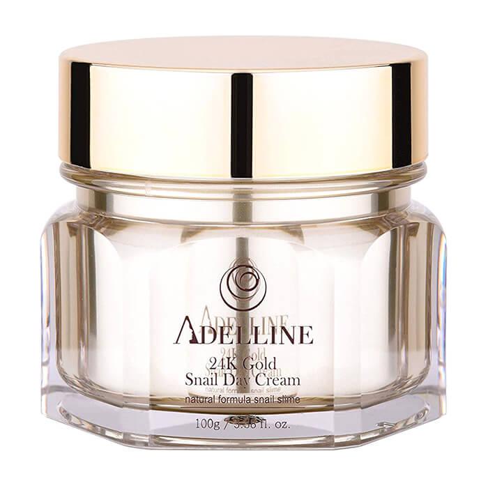 Купить Крем для лица Adelline 24K Gold Snail Day Cream, Питательный крем для кожи лица с коллоидным золотом и слизью улитки, Южная Корея