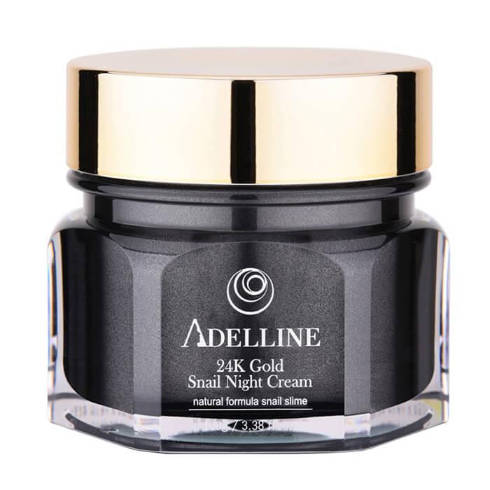 Крем для лица Adelline 24K Gold Snail Night Cream Ночной восстанавливающий крем для кожи лица с коллоидным золотом и слизью улитки фото