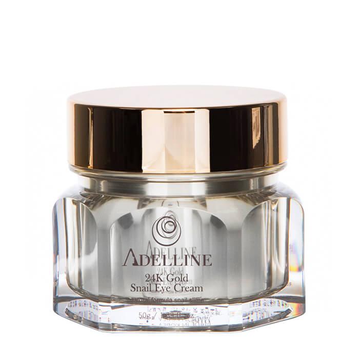 Купить Крем для век Adelline 24K Gold Snail Eye Cream, Питательный крем для кожи вокруг глаз с коллоидным золотом и слизью улитки, Южная Корея