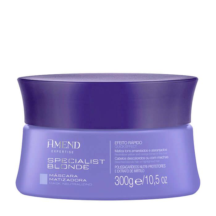 Маска для волос Amend Mask Neutralizing Specialist Blond Маска для поддержания идеальных холодных оттенков блонда на волосах фото
