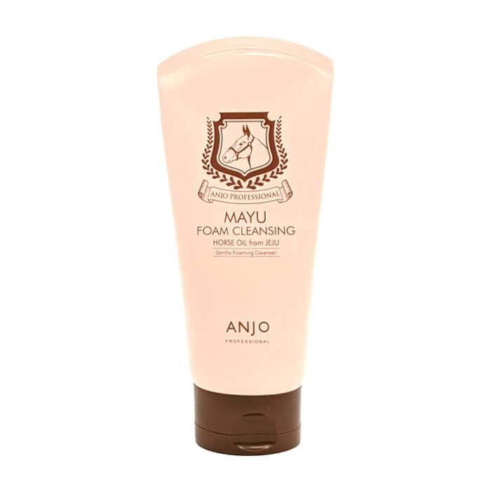 Купить Пенка для умывания Anjo Professional Mayu Cleansing Foam, Мягкая пенка для очищения и оздоровления кожи лица с лошадиным жиром, Южная Корея