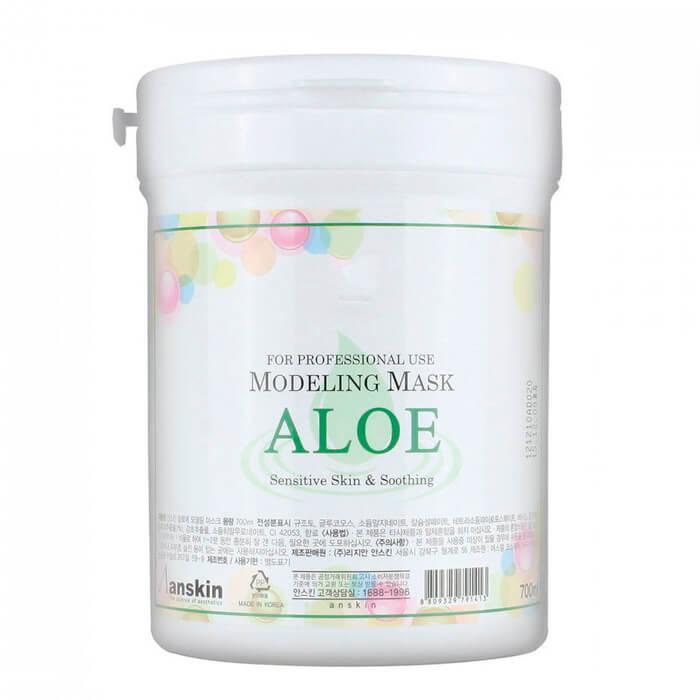 Купить Альгинатная маска Anskin Aloe Modeling Mask, Успокаивающая альгинатная маска с экстрактом алоэ вера, Южная Корея