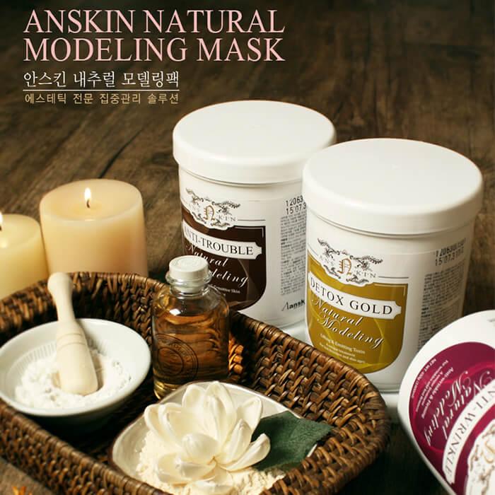 Альгинатная маска Anskin Centella Modeling Mask Увлажняющая альгинатная маска для лица с экстрактом центеллы азиатской