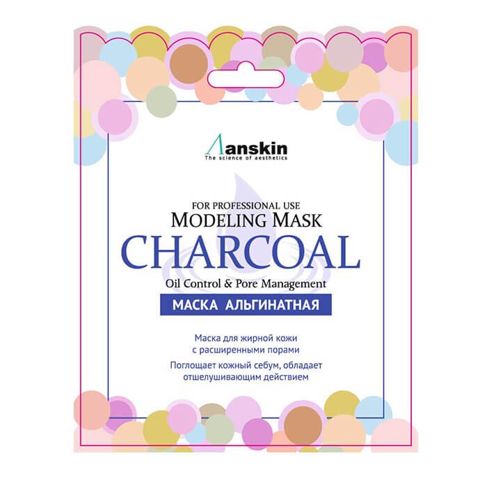 Купить Альгинатная маска Anskin Charcoal Modeling Mask (Sachet), Альгинатная маска с древесным углём для жирной кожи и расширенными порами, Южная Корея