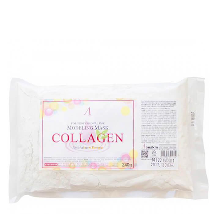 Купить Альгинатная маска Anskin Collagen Modeling Mask (Refill), Укрепляющая альгинатная маска с гидролизованным коллагеном, Южная Корея