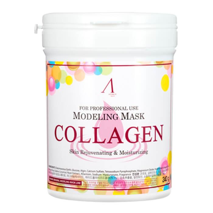 Купить Альгинатная маска Anskin Collagen Modeling Mask, Укрепляющая альгинатная маска с гидролизованным коллагеном, Южная Корея