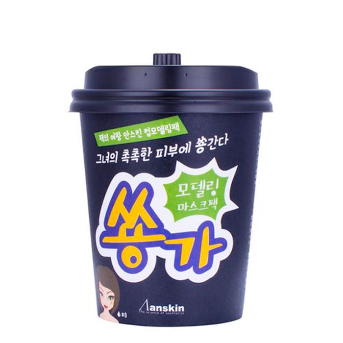 Купить Набор альгинатной маски Anskin Cup Modeling Mask Pack - Green, Набор альгинатной маски на основе центеллы азиатской с эффектом увлажнения, Южная Корея