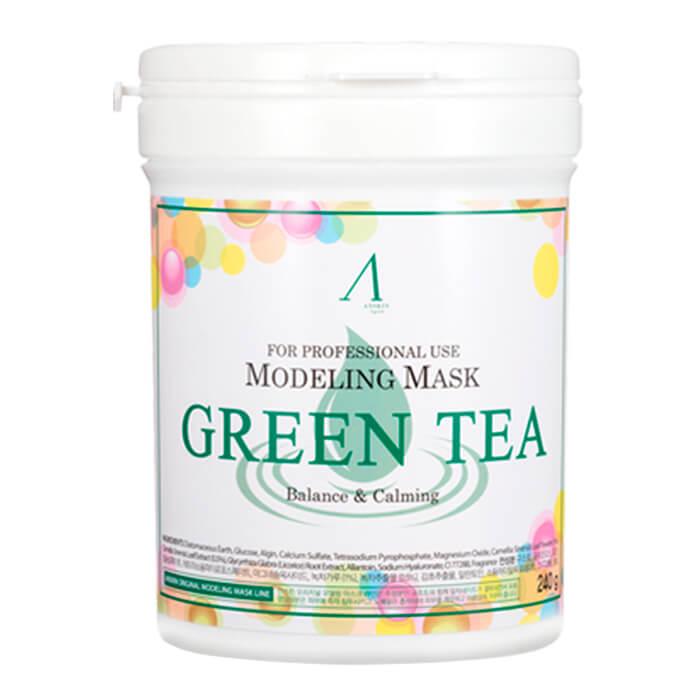 Купить Альгинатная маска Anskin Green Tea Modeling Mask, Успокаивающая альгинатная маска с экстрактом зелёного чая, Южная Корея