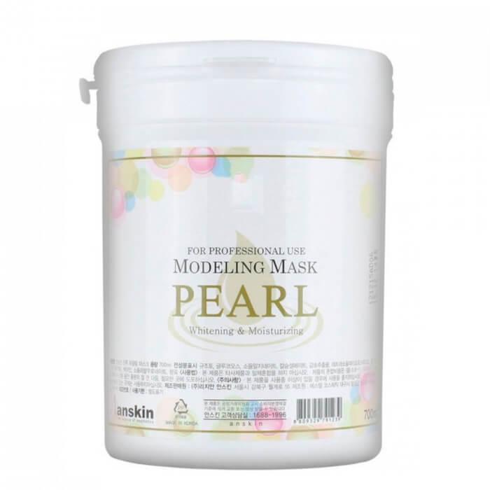 Купить Альгинатная маска Anskin Pearl Modeling Mask, Альгинатная маска с экстрактом жемчуга для увлажнения и осветления кожи, Южная Корея