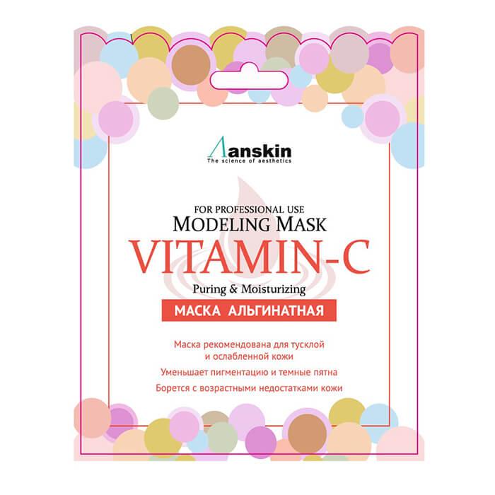 Альгинатная маска Anskin Vitamin-C Modeling Mask (Sachet) Альгинатная маска с витамином С рекомендованна для тусклой кожи фото