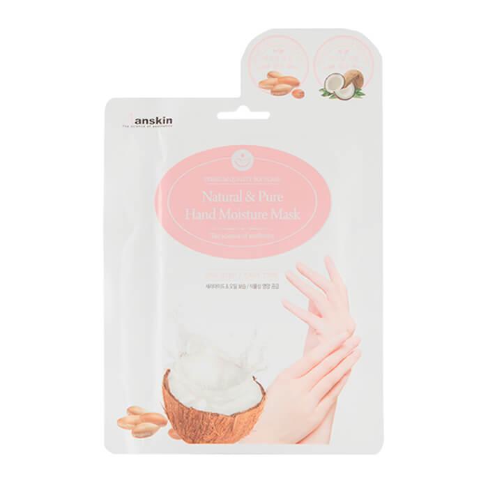 Купить Маска для рук Anskin Natural & Pure Hand Moisture Mask, Питательная и увлажняющая маска для рук в форме перчаток, Южная Корея